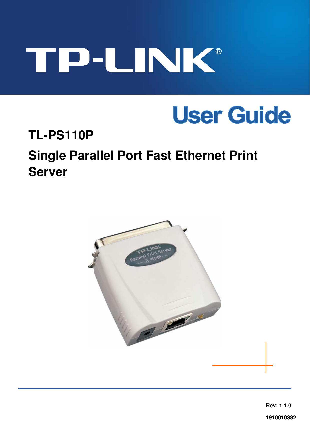 Tp Link Tl Ps110P User Guide