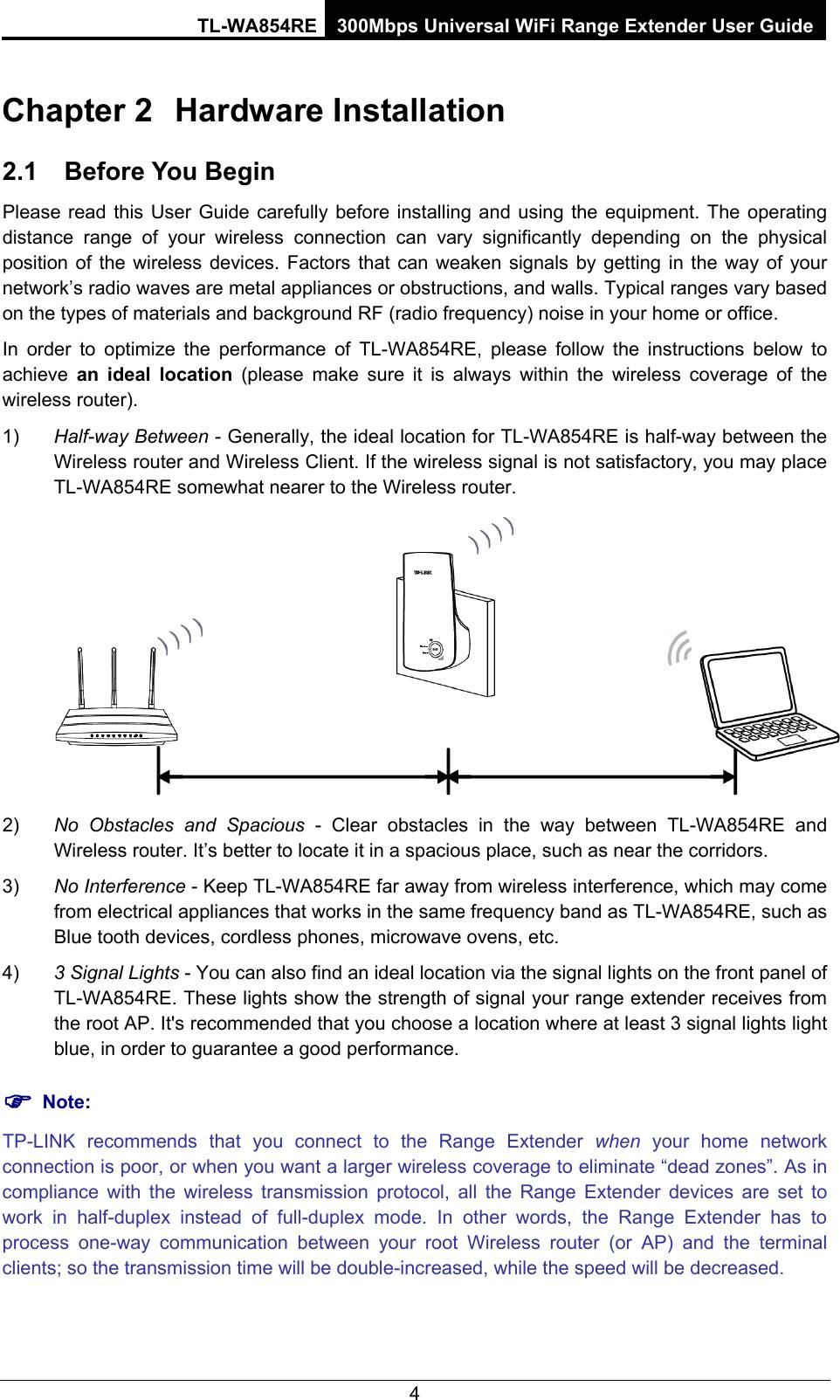 Tp Link Tl Wa854Re Users Manual