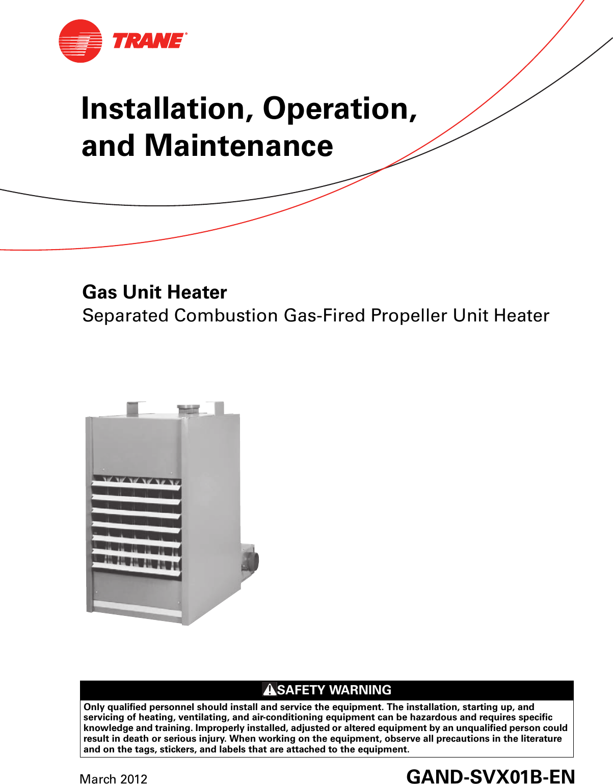 Trane Gas Fired Unit Heaters Wiring Diagram - Wiring Diagrams on