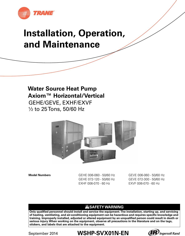 trane h v wshp 5 to 25 tons installation and maintenance  uc400 trane wiring diagram #7