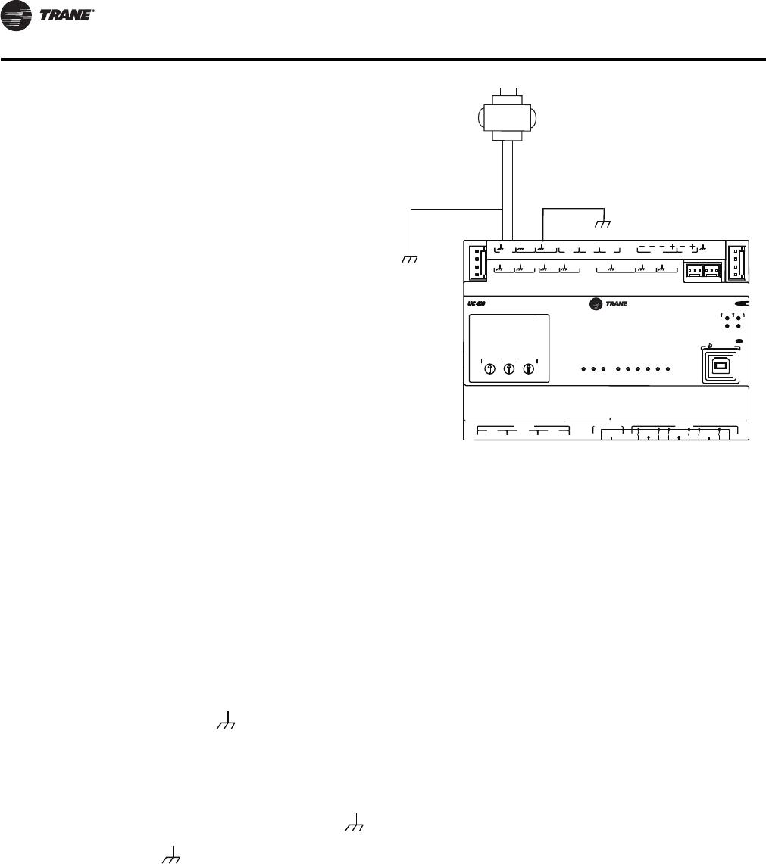 Trane Uc400 Wiring Diagram Trusted Diagrams Communication Wire Huvc Horizontal Classroom Unit Ventilator Installation And