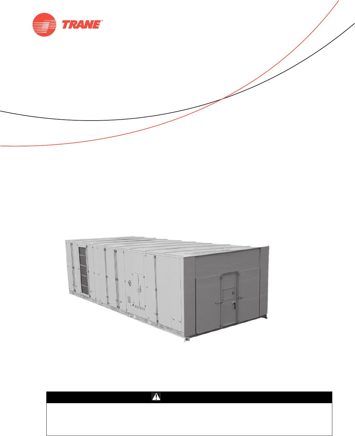 Trane Intellipak Ii 90 To 162 Tons Installation And Maintenance Baysens019c Thermostat Wiring Diagram Safety Warning