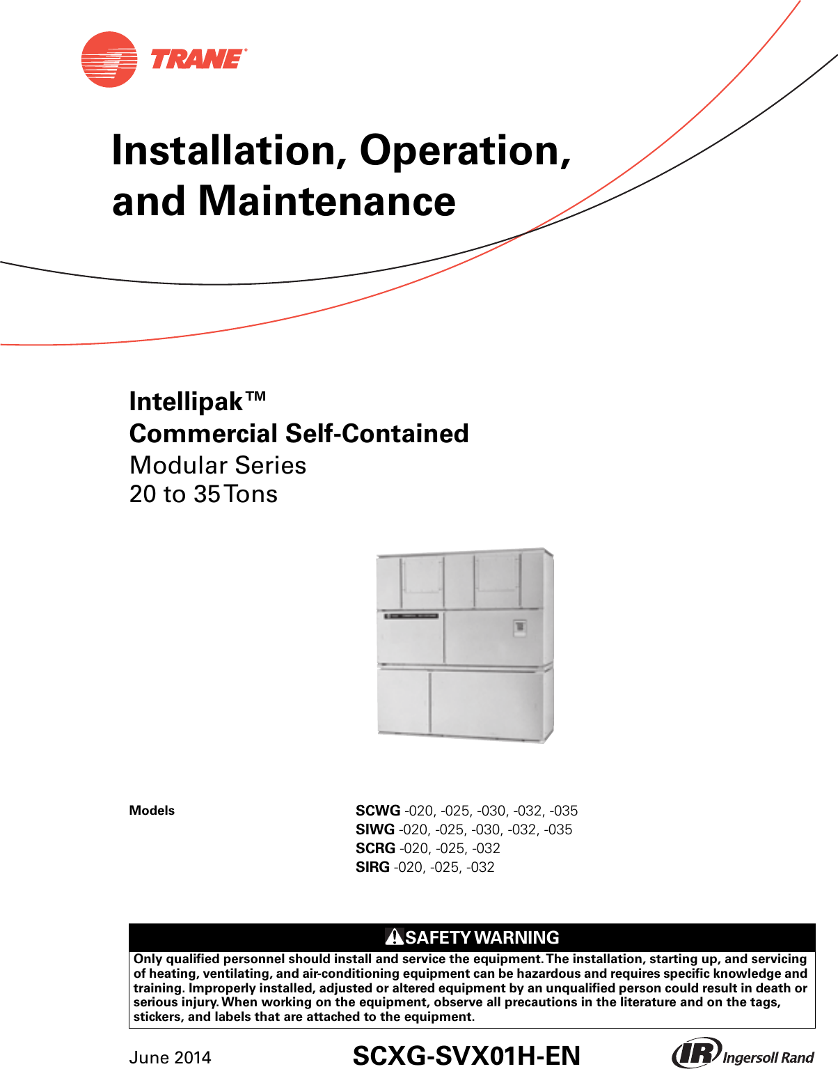 Trane Hard Start Kit Wiring Diagram Modular 20 To 35 Tons Installation And Maintenance Manual Scxg Svx01h En 06 2014