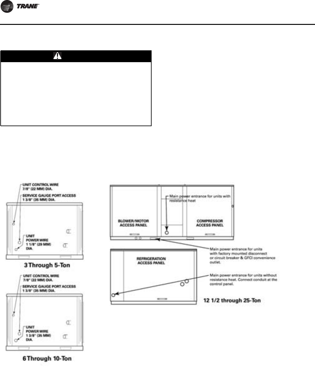 Trane Rooftop Wshp Installation And Maintenance Manual Compressor Wiring Diagram