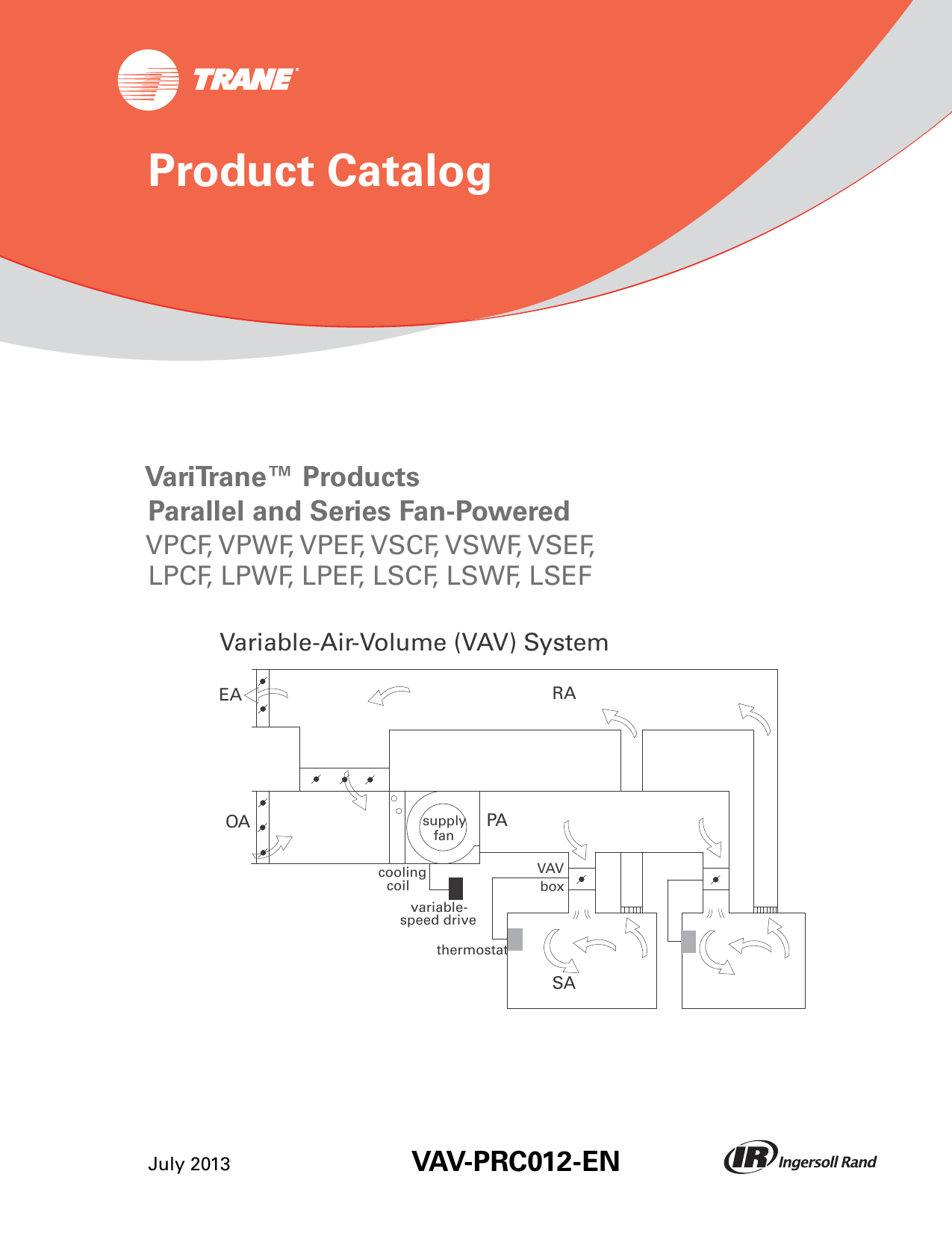 Trane Round In Out Catalogue Vav Prc012 En 072013 Wiring Diagrams Model Echalon