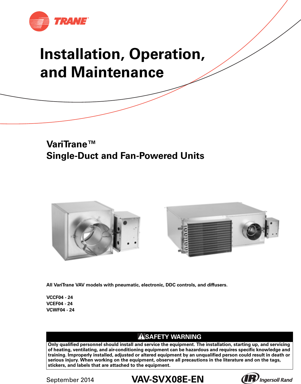 Trane Round In Out Installation And Maintenance Manual VAV ... on