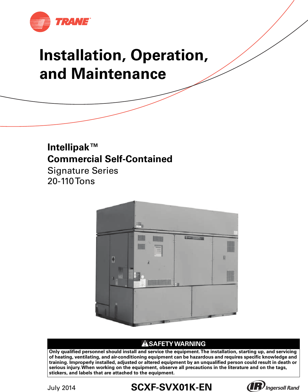 Trane Signature 20 To 110 Tons Installation And Maintenance Manual Hard Start Kit Wiring Diagram Scxf Svx01k En 07 2014