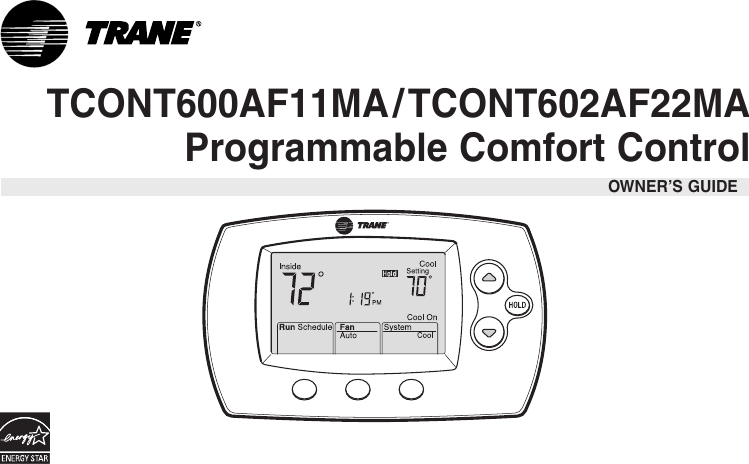 Trane tcont600af11ma users manual sciox Choice Image