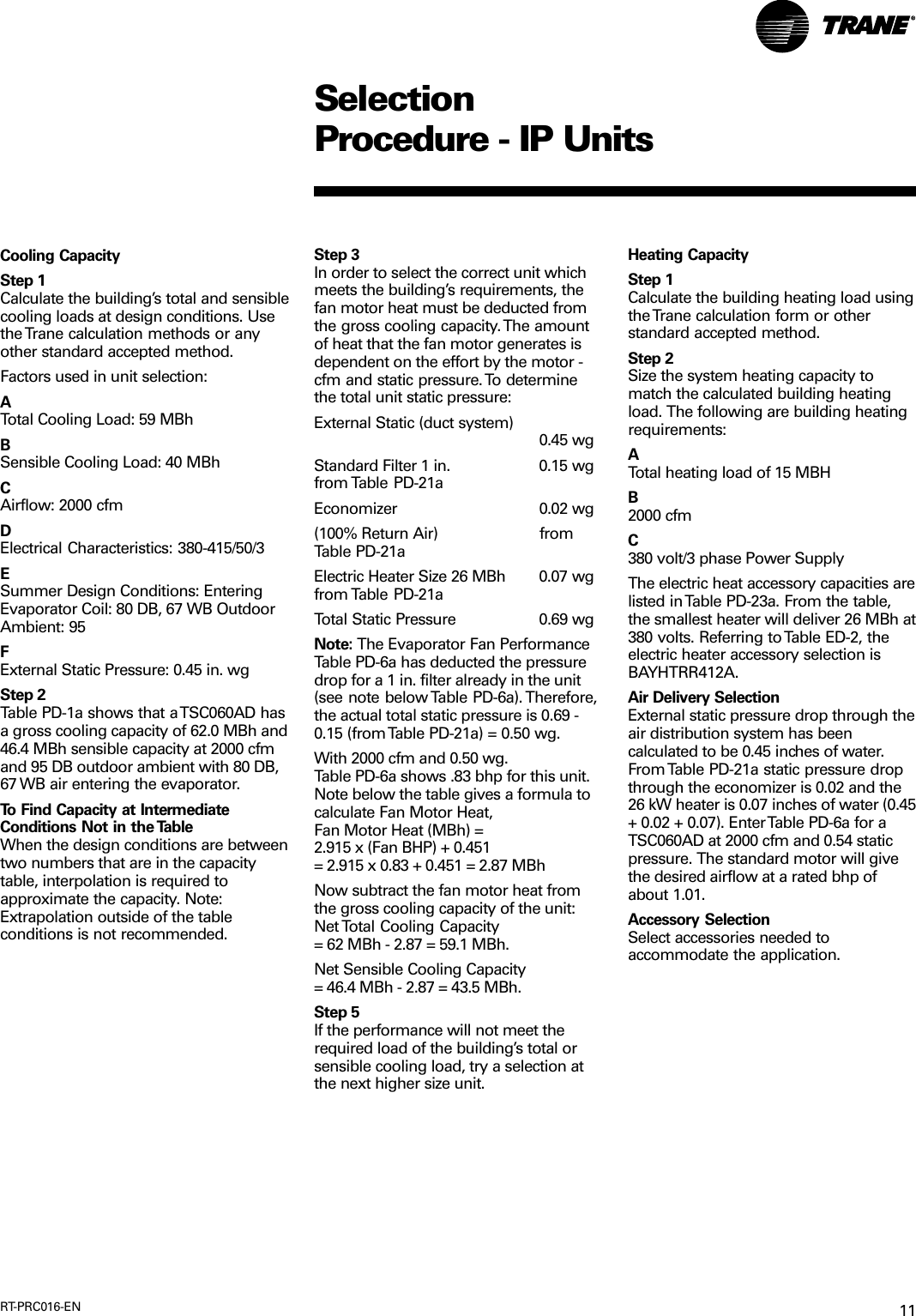 Trane Tsc060 120 Users Manual RT PRC016 EN 10/03