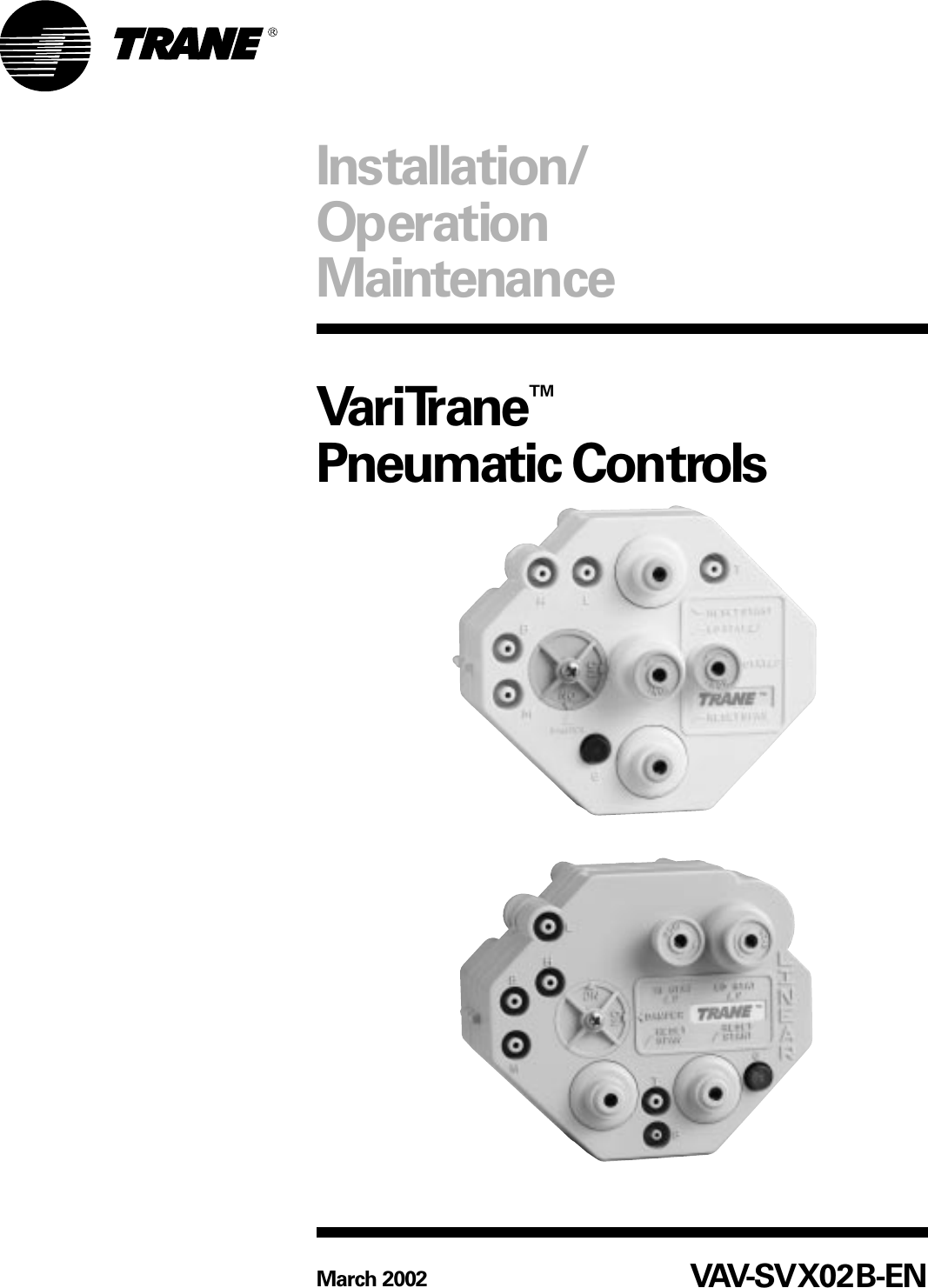 Trane vav Maintenance Manual