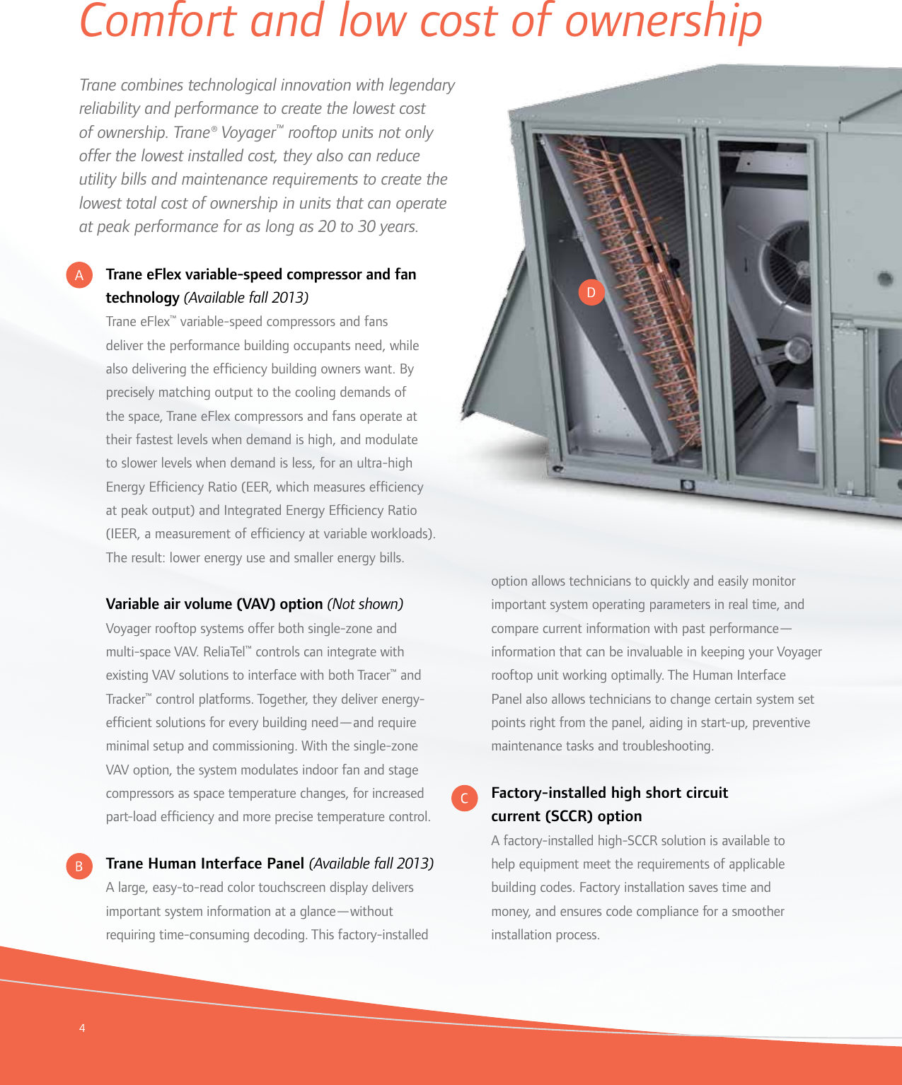 Trane Voyager 12 5 To 25 Tons Brochure