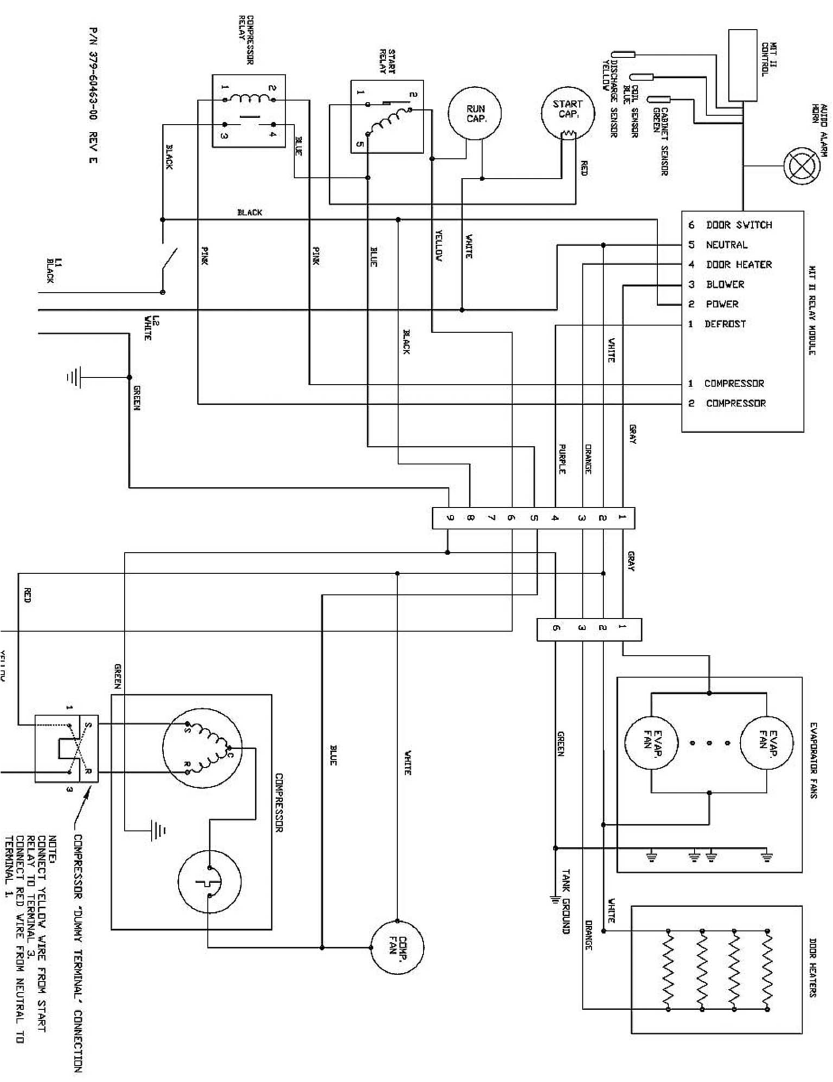 Traulsen Te Series Tr99999 Svce Manual User To The 1a1e9dad 1c9d Compressor Wire Diagram For Ph 1 V Wiring