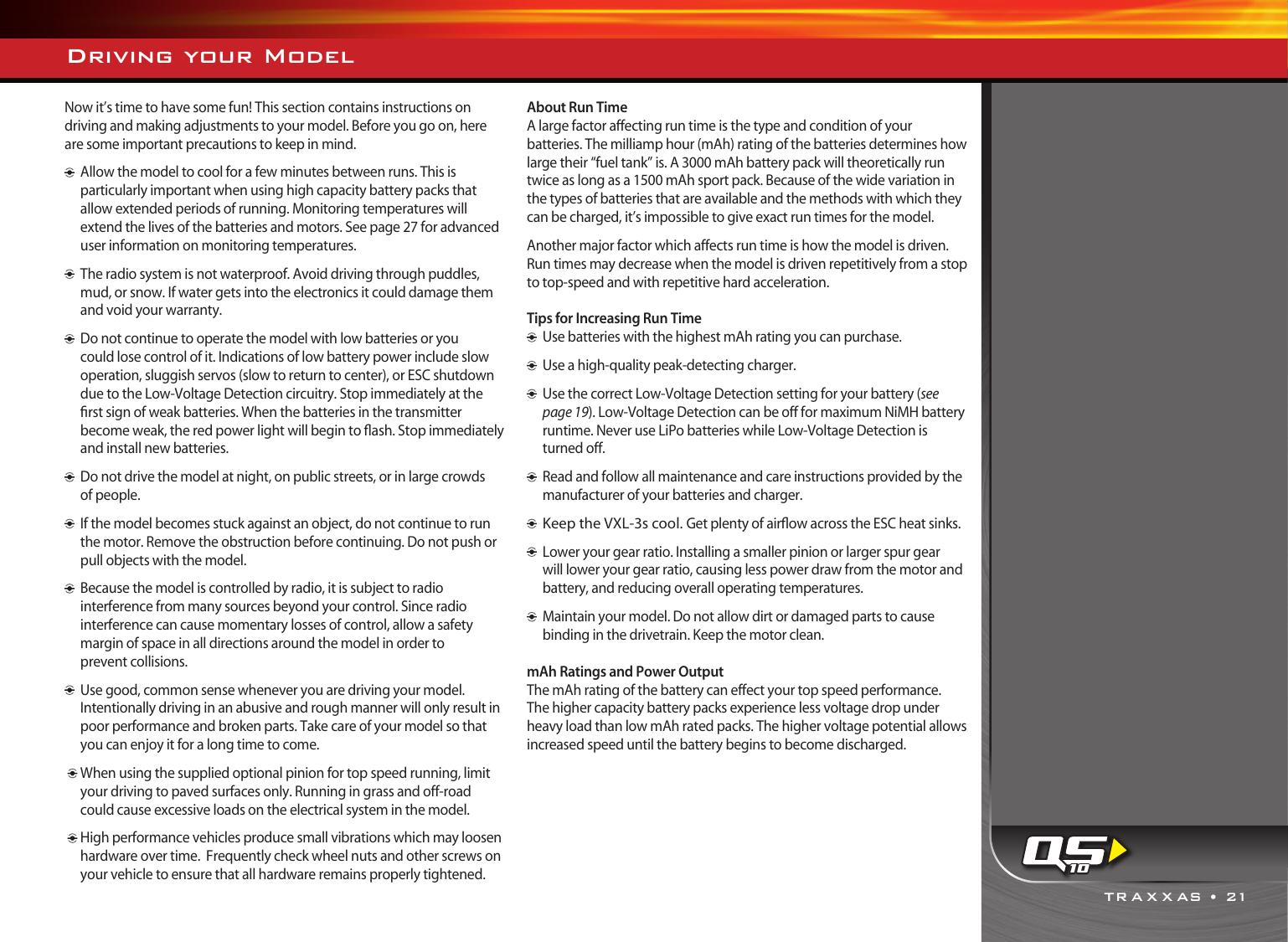 Traxxas Rustler 2408 Users Manual