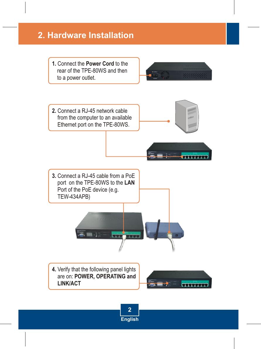 Trendnet Web Smart Poe Switch Tpe 80Ws Users Manual
