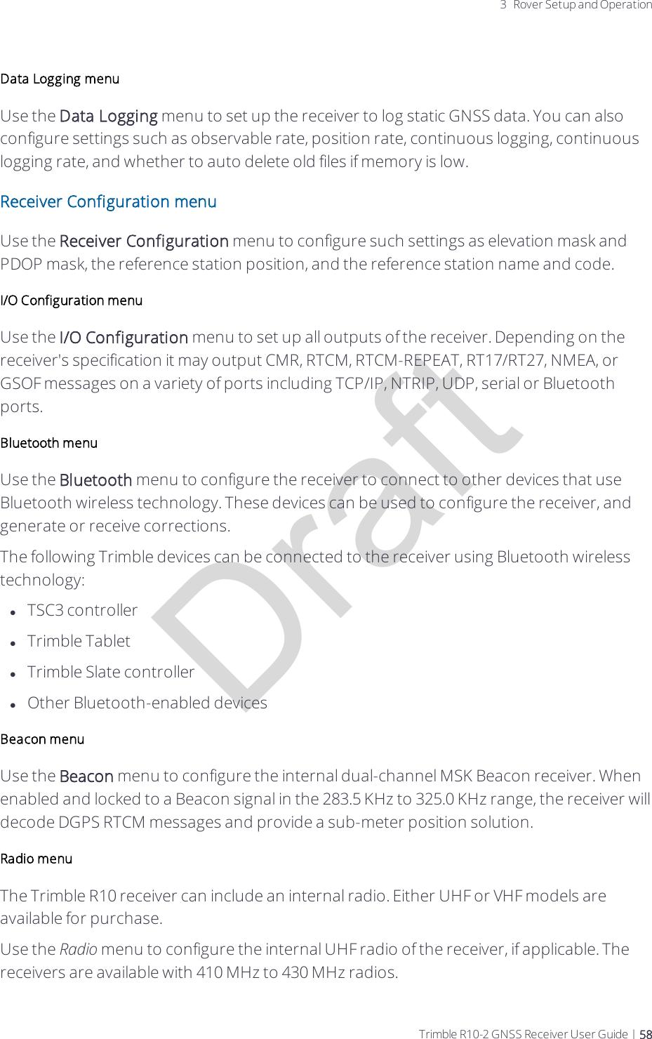 Trimble 90912 GNSS Receiver User Manual Trimble R10 2 GNSS