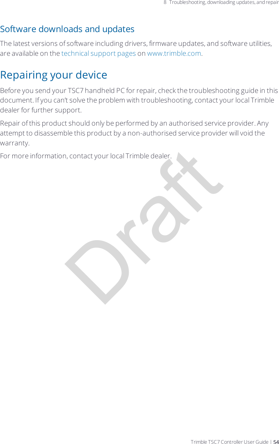Trimble EM7455 Radio Module User Manual Trimble TSC7