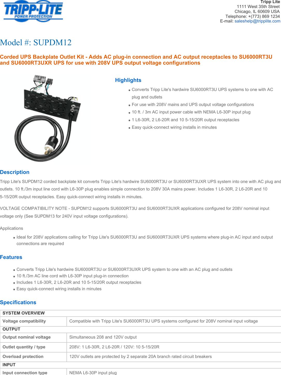 Conntek Tel1430 Nema L14 Manual Guide