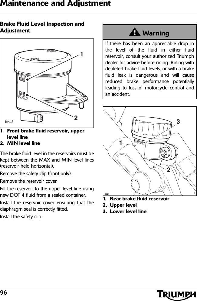 Triumph Motorcycles 125RCU 125kHz Immobiliser User Manual Userr manual