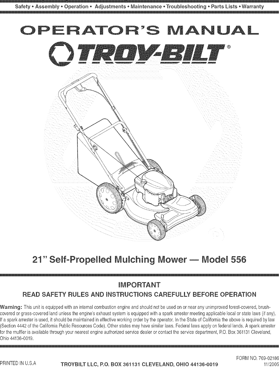 Wiring Diagram Database  Troy Bilt 21 Self Propelled Mower