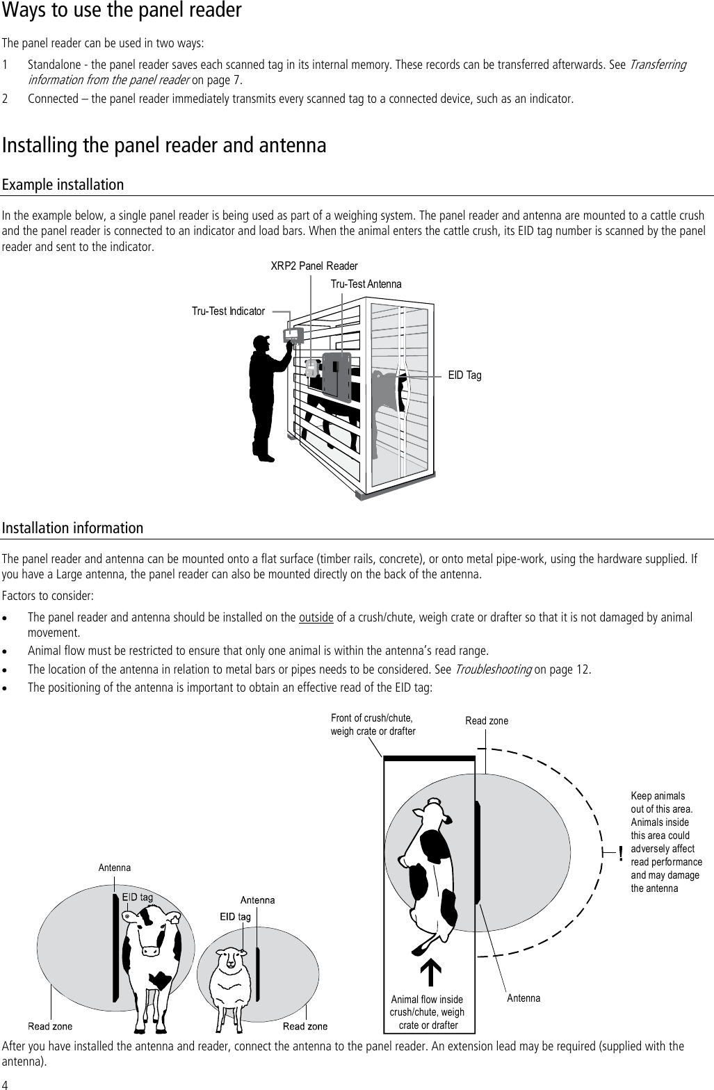 Tru Test XRP2-1 ANIMAL TAG RFID READER WITH BLUETOOTH MODULE User Manual