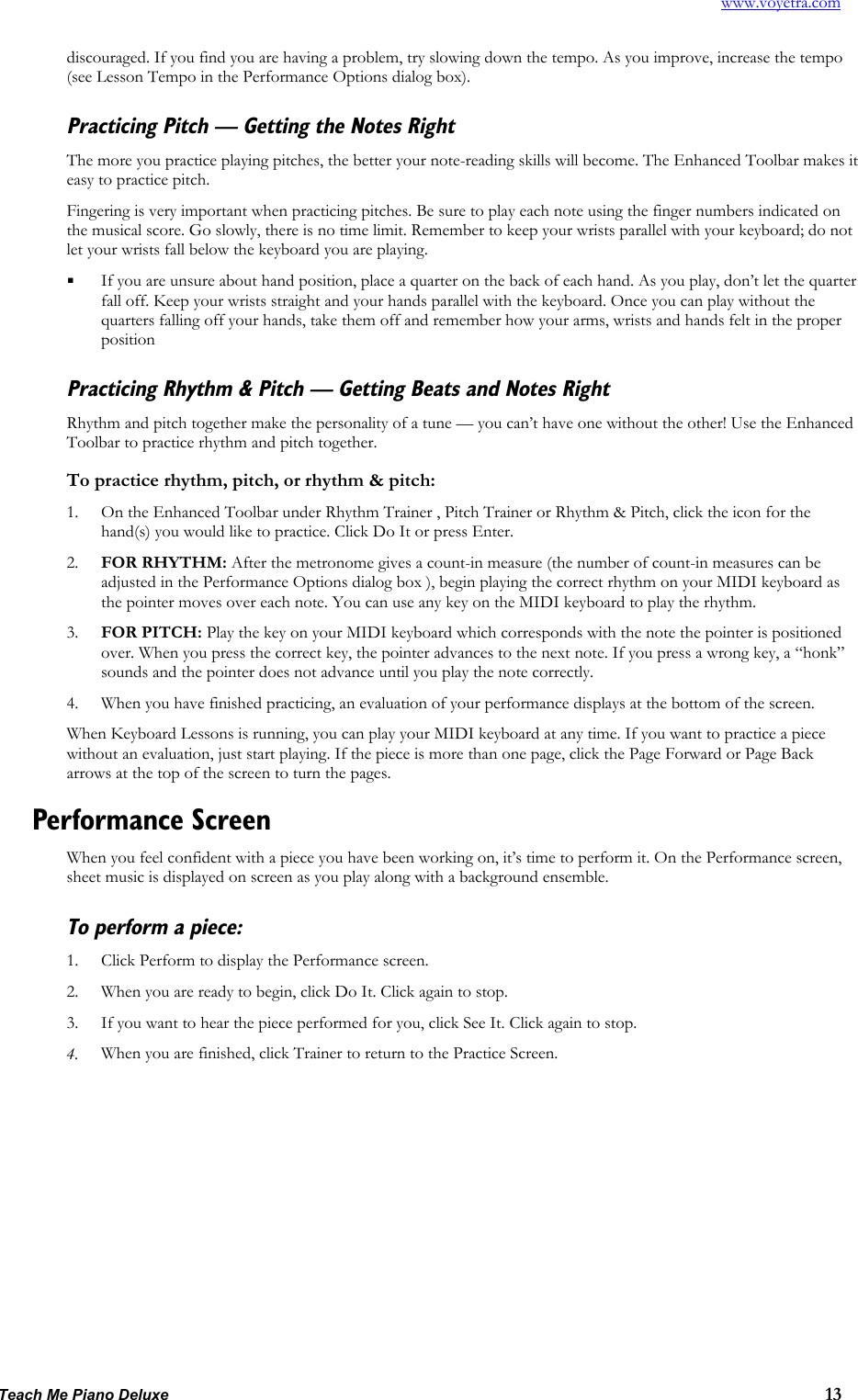 Turtle Beach Teach Me Piano Deluxe Users Manual