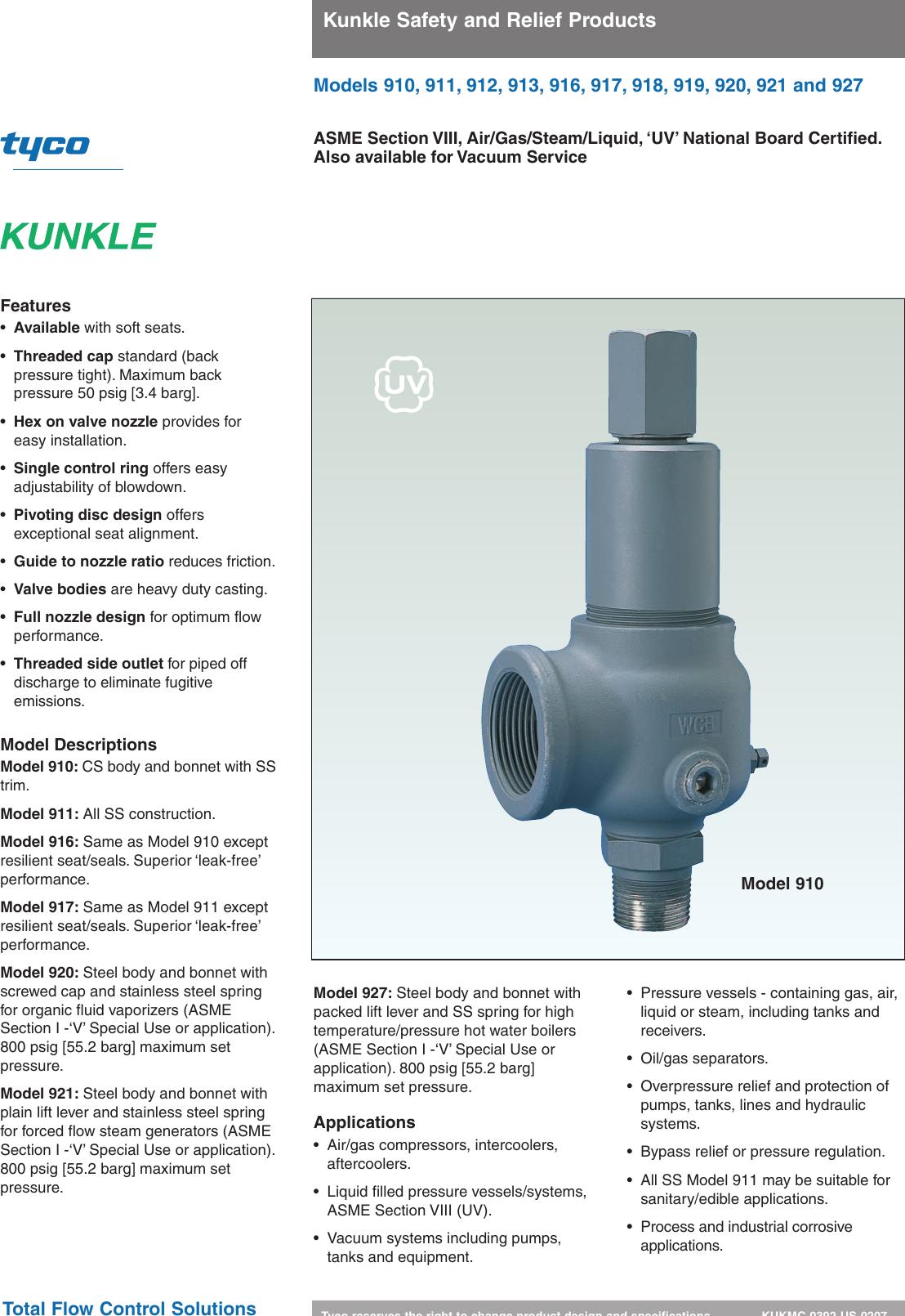 Tyco 910 Users Manual KUKMC 0392 US