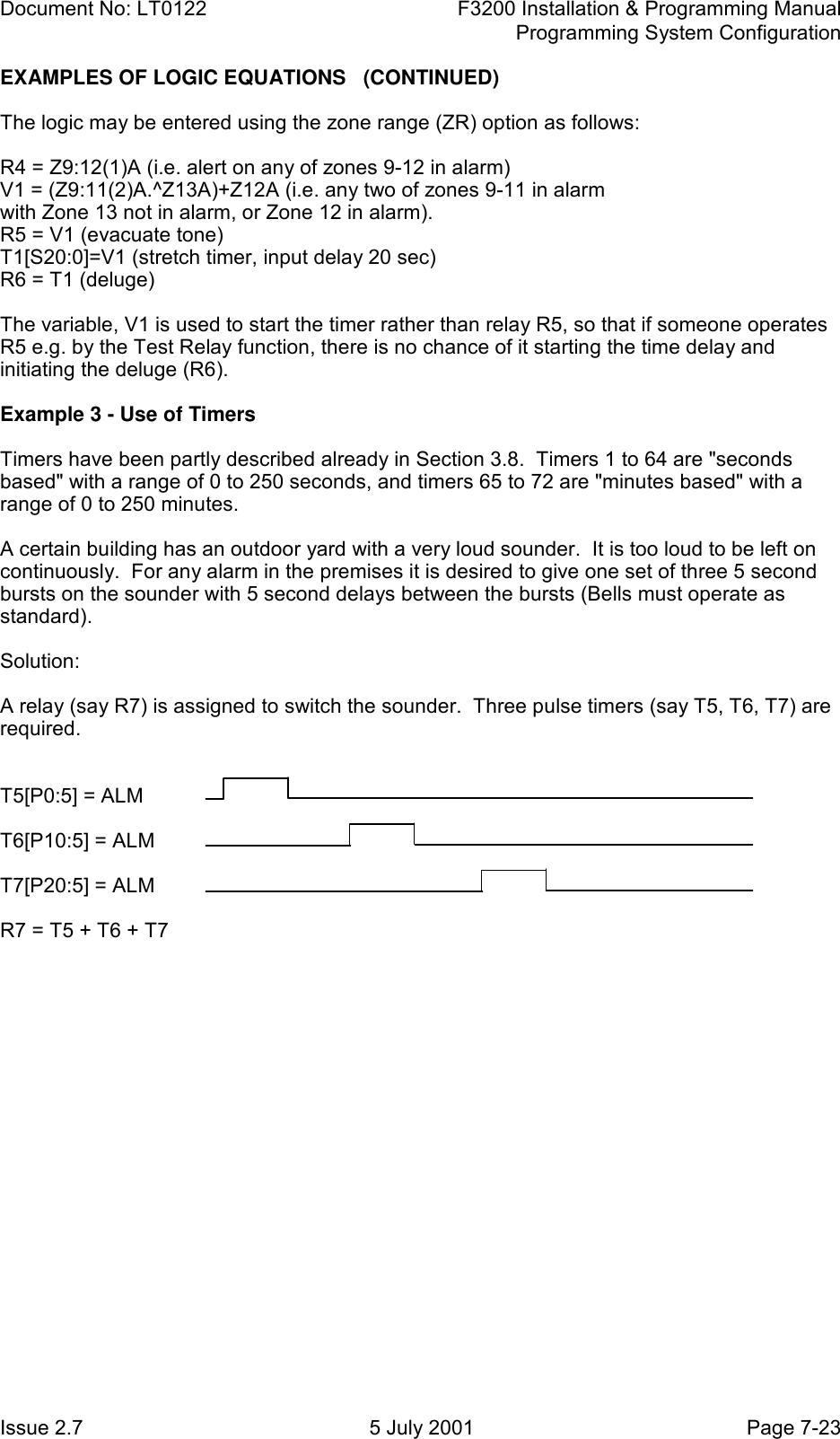 Tyco F3200 Users Manual LT0122 Fire Indicator Panel
