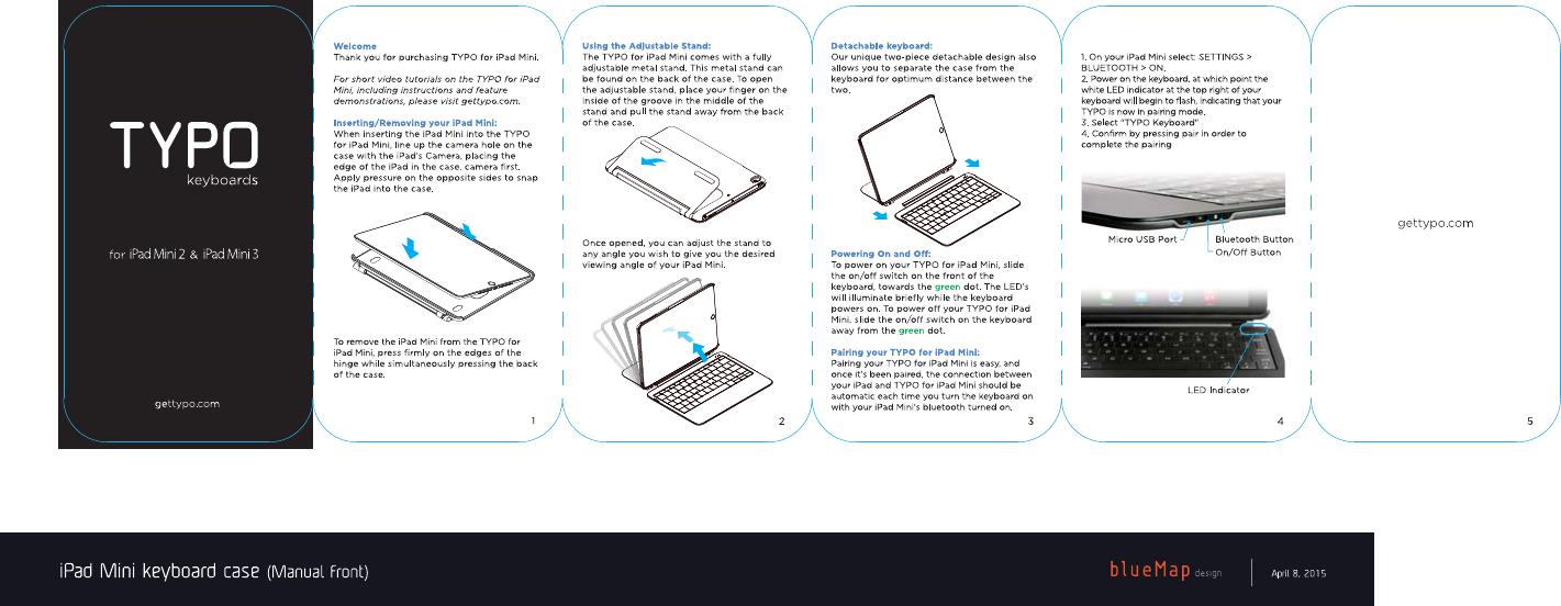 Typo Innovations Tk2002 Typo For Ipad Mini User Manual Mini Manual
