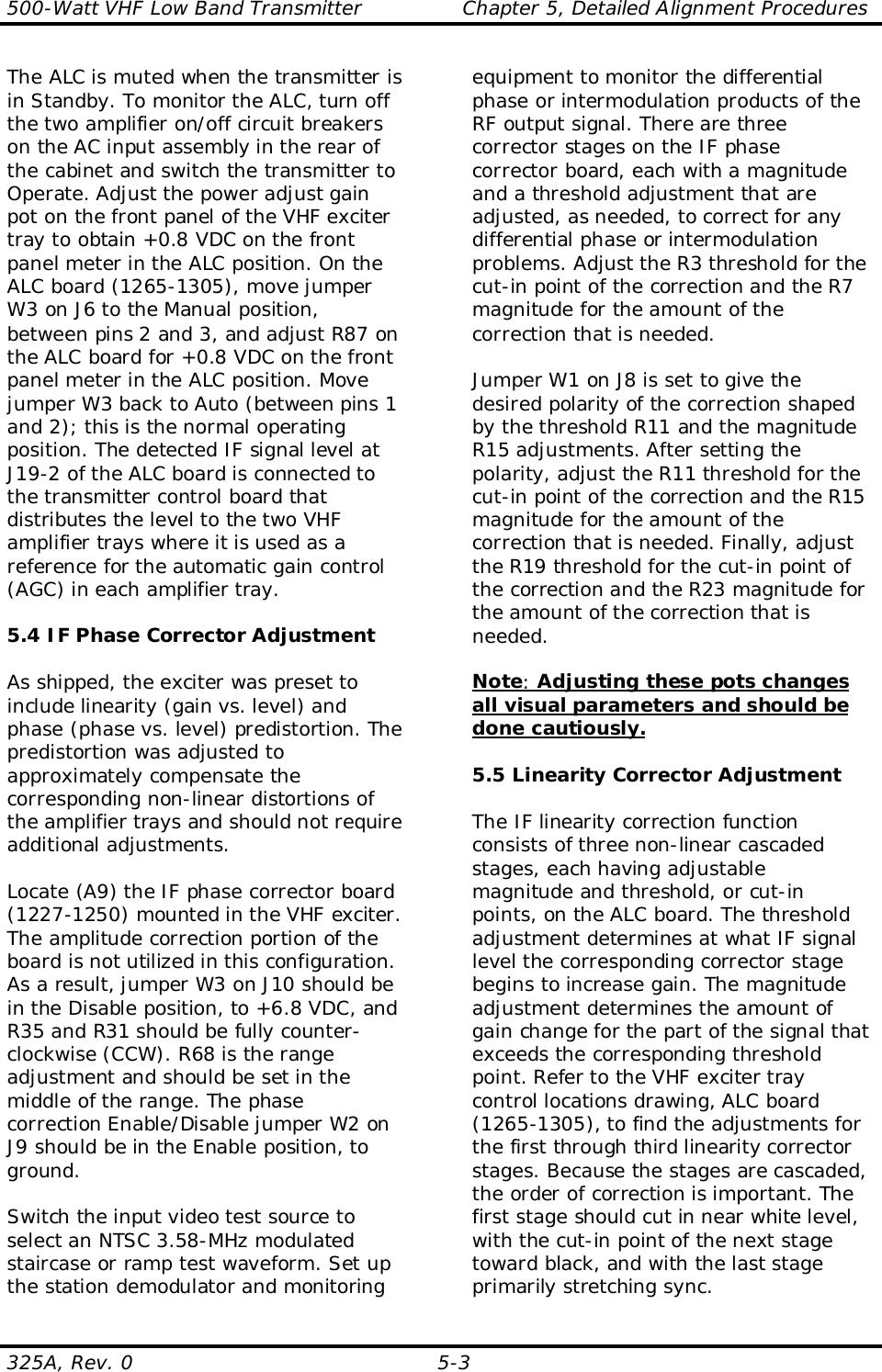 UBS Axcera 325A 500-Watt VHF Low-band Television Transmitter