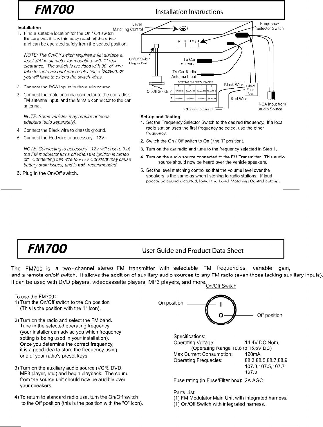 UBUY FM700 FM Stereo Transmitter User Manual FCC Statment