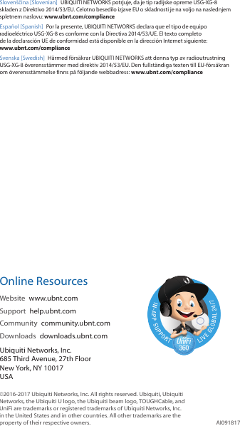Ubiquiti Networks USGXG UniFi Security Gateway User Manual