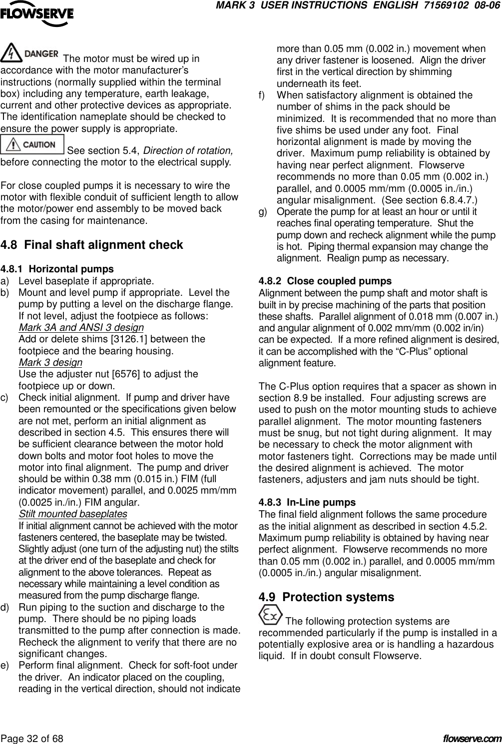 Unirex Pump Users Manual