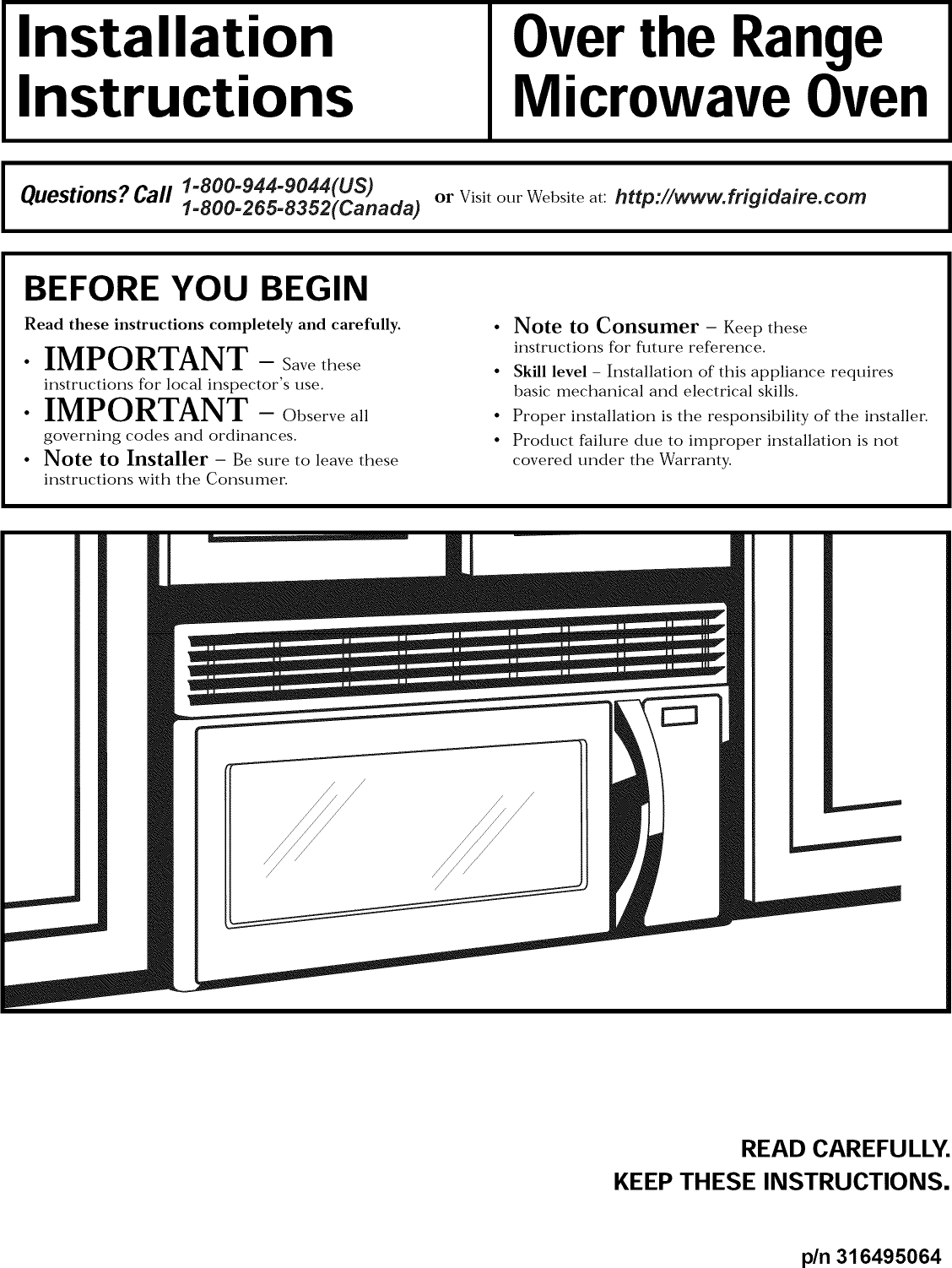 Frigidaire Microwave Installation Instructions Bestmicrowave