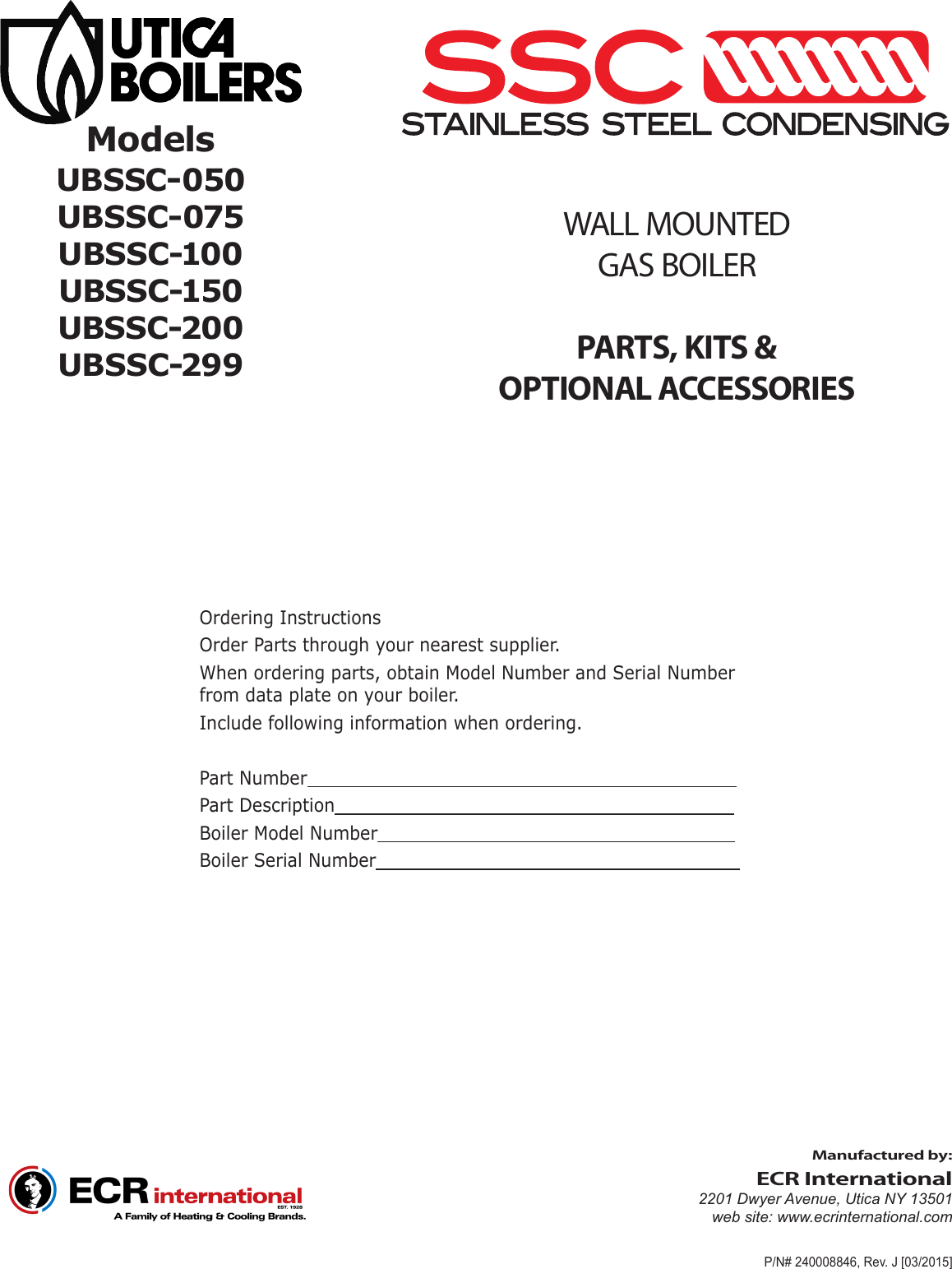 Utica Boilers Ssc Parts List Wiring Harness