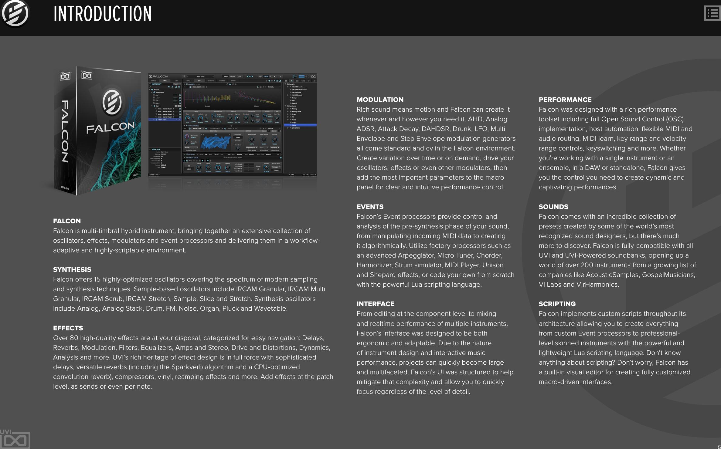 Uvi Falcon Manual | Software User