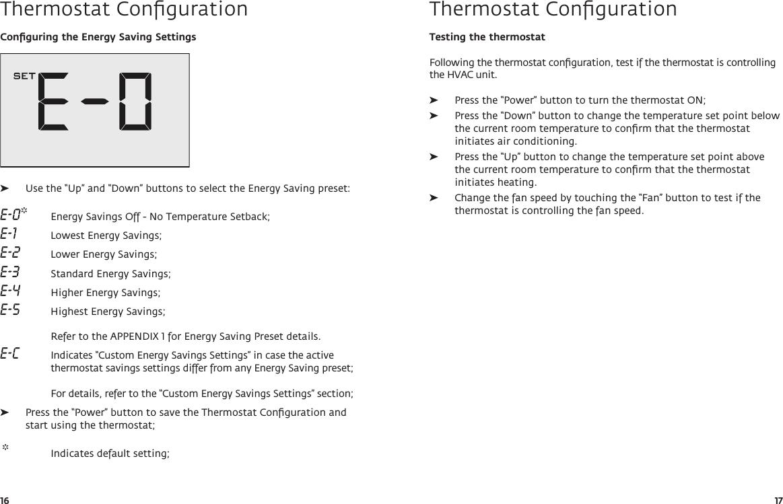 Verdant Environmental Technologies Wx Thermostat User