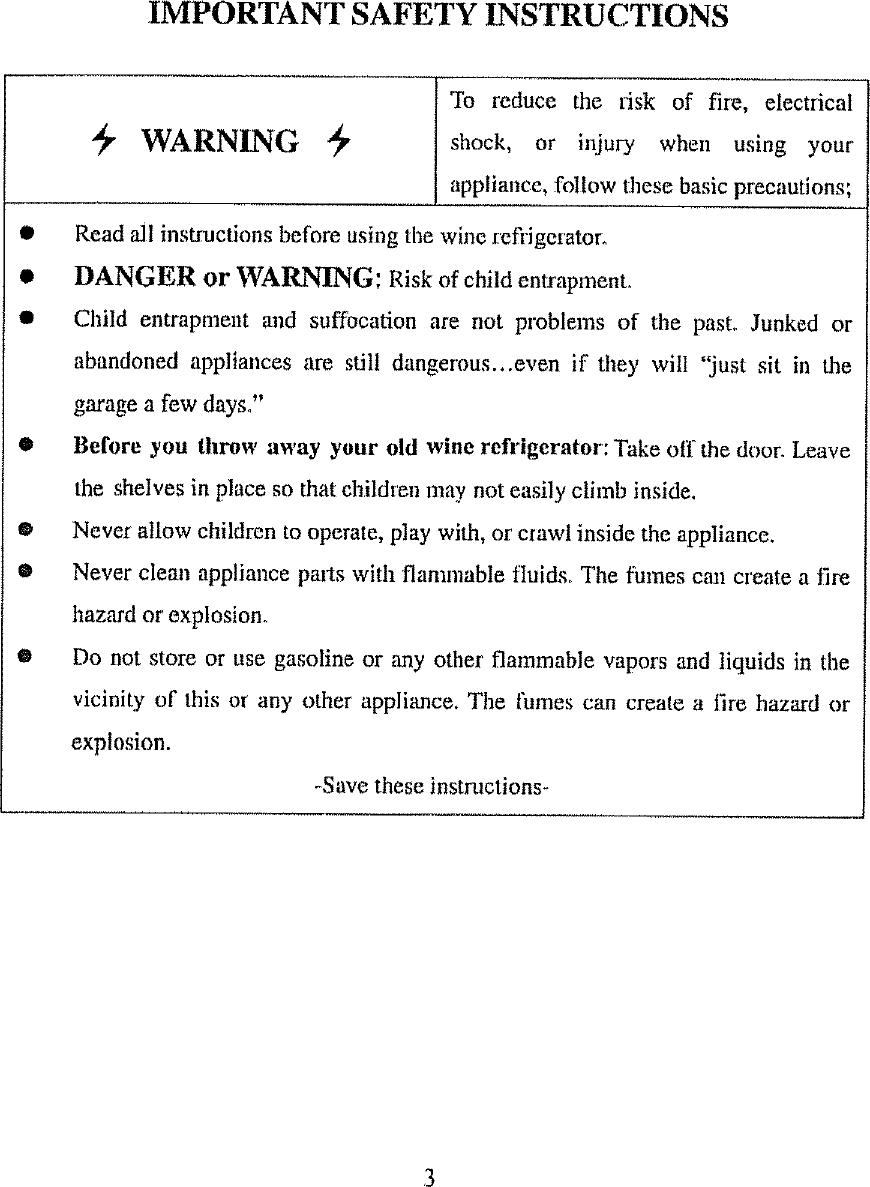 VINOTEMP Wine Cooler Manual L0801838