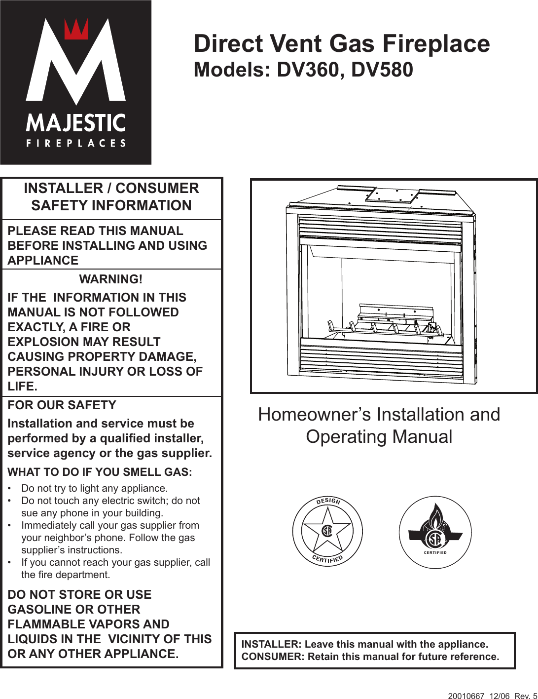 Majestic Dv360 Fireplace Manual Fireplaces