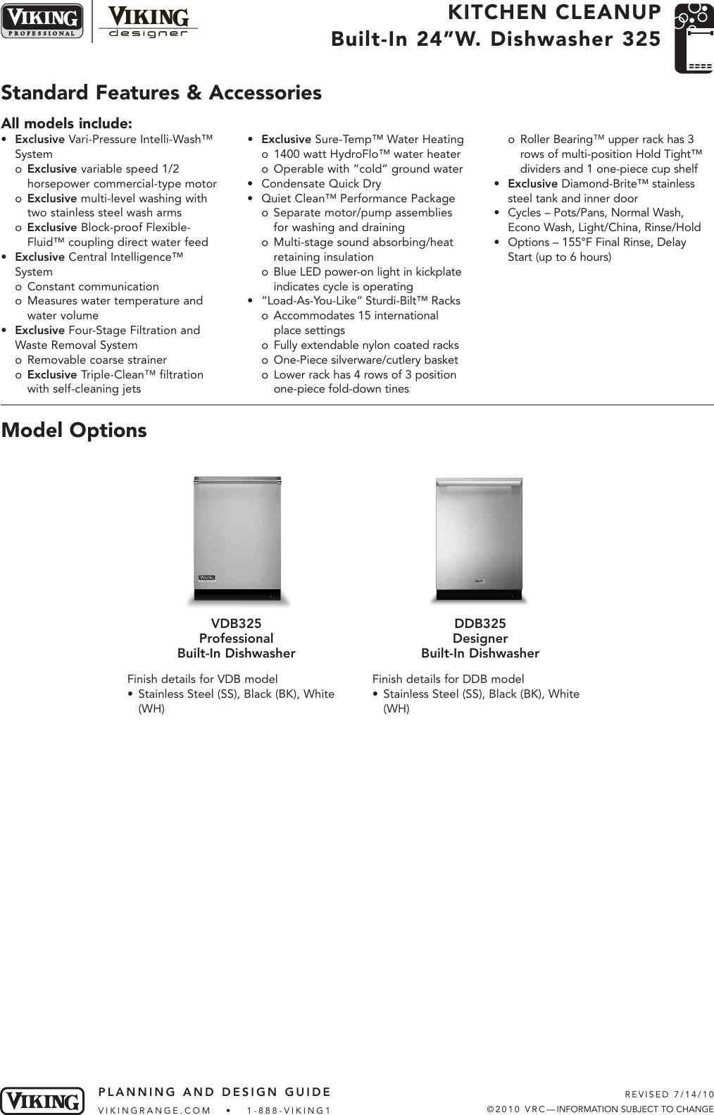 viking dishwasher ddb325 users manual design considerations rh usermanual wiki Who Makes Viking Dishwashers Viking Dishwasher Inside