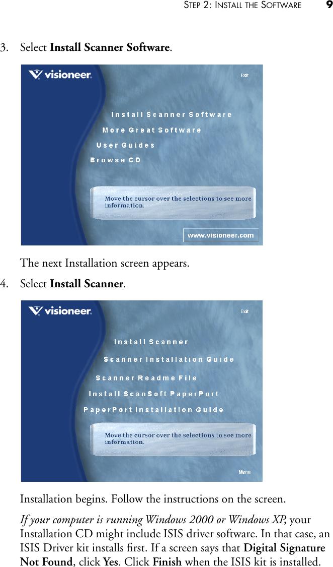 Visioneer 9450 Users Manual Book