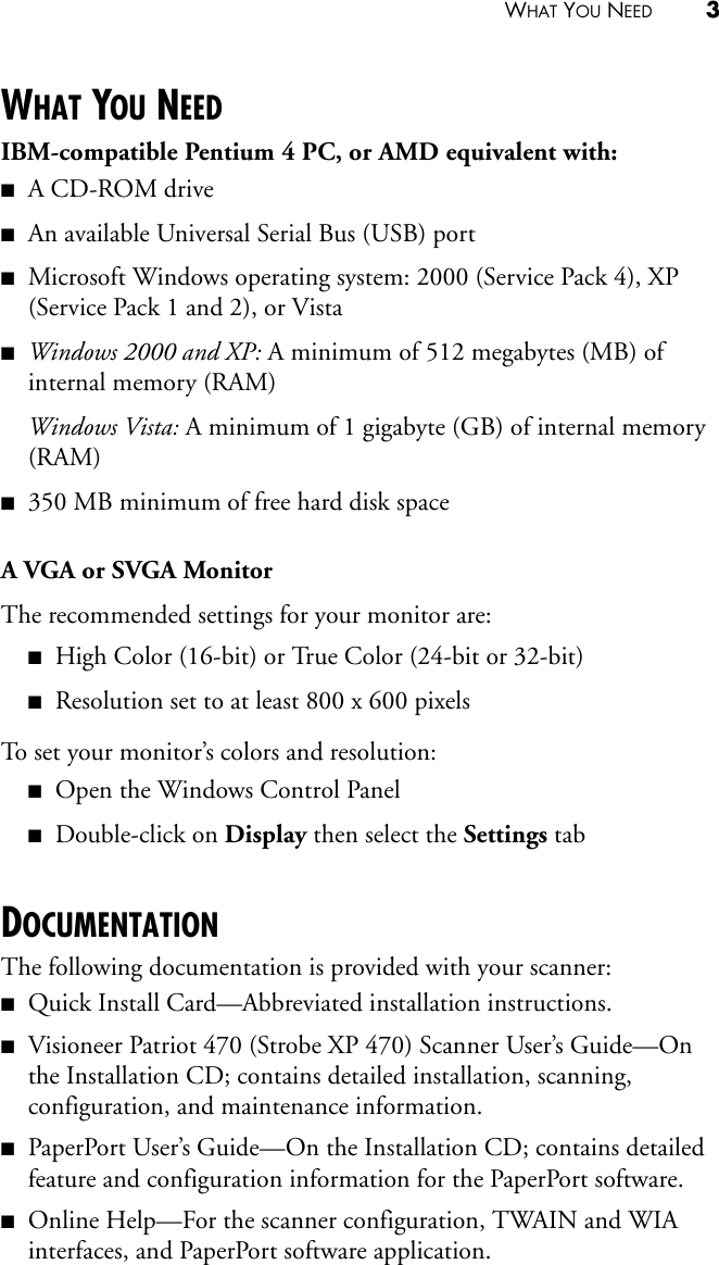 Visioneer Guide If Not Then XP470 Guide OT4 EN