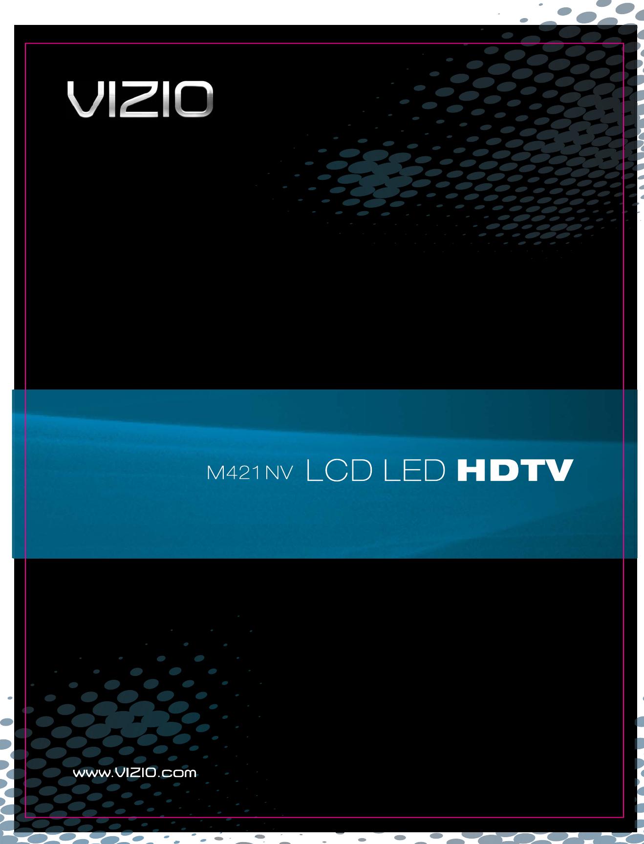 Vizio M421Nv Users Manual 10 01135 M420NV User Manual_2
