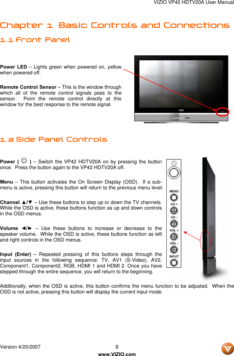 Vizio Vp42 Users Manual