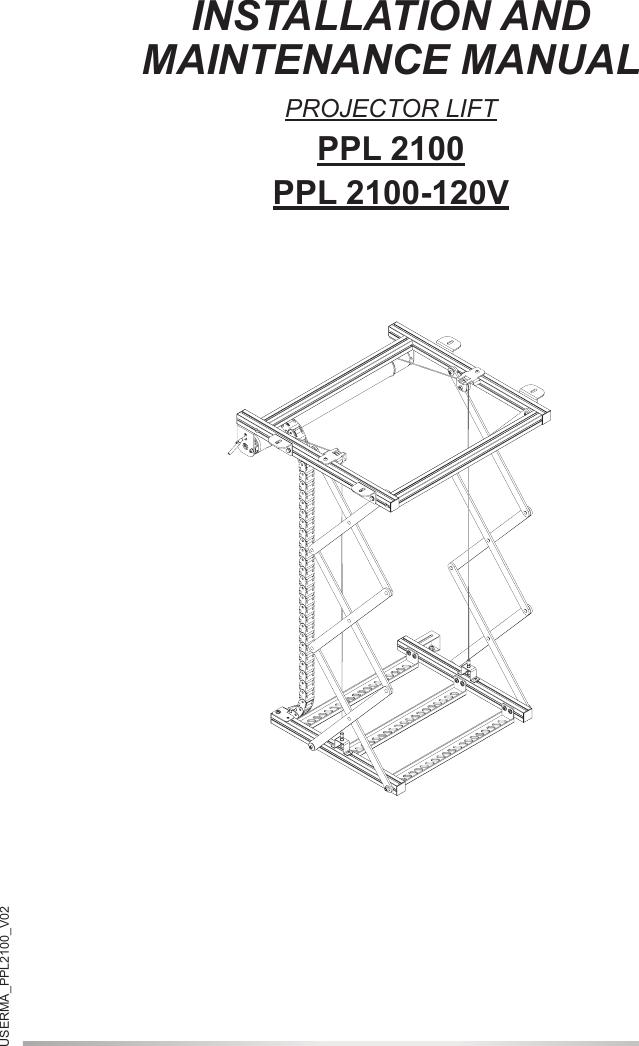 Installation And Maintenance Manual Ppl 2100 120v