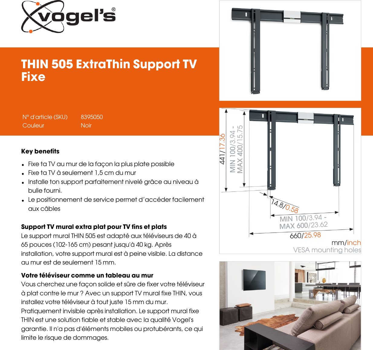 Leaflet Version 40 Thin 505 Extra Support Tv Fixe 5425 Fr