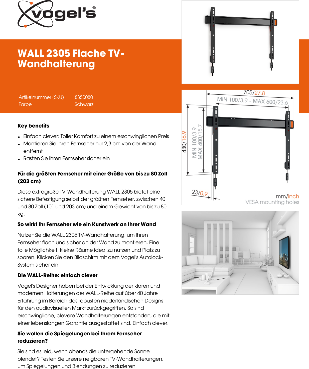 Leaflet Version 4 0 Wall 2305 Flache Tv Wandhalterung 2120 De