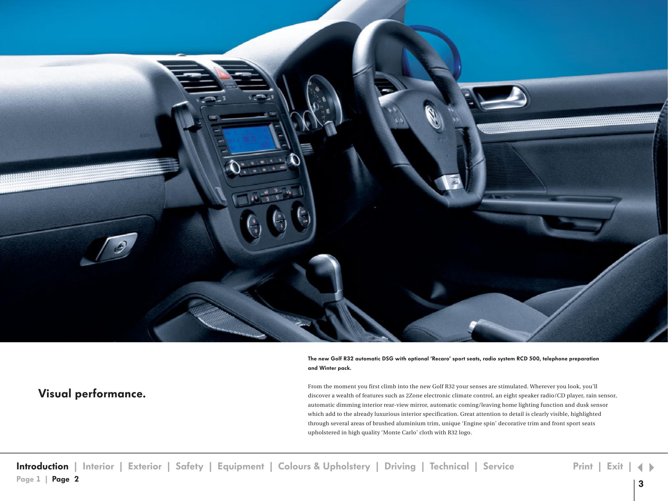 Volkswagen R32 Users Manual