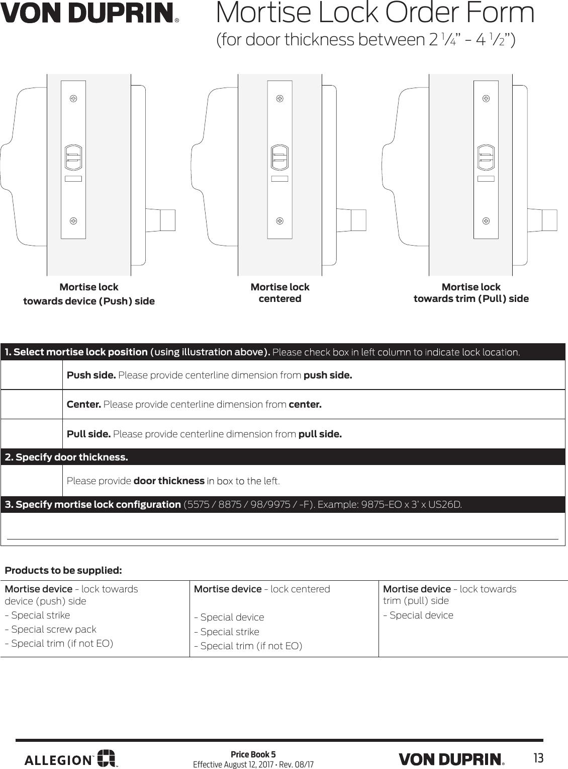 Von Duprin 050465 8827-F Top Latch Cover Kit Top Notch Distributors