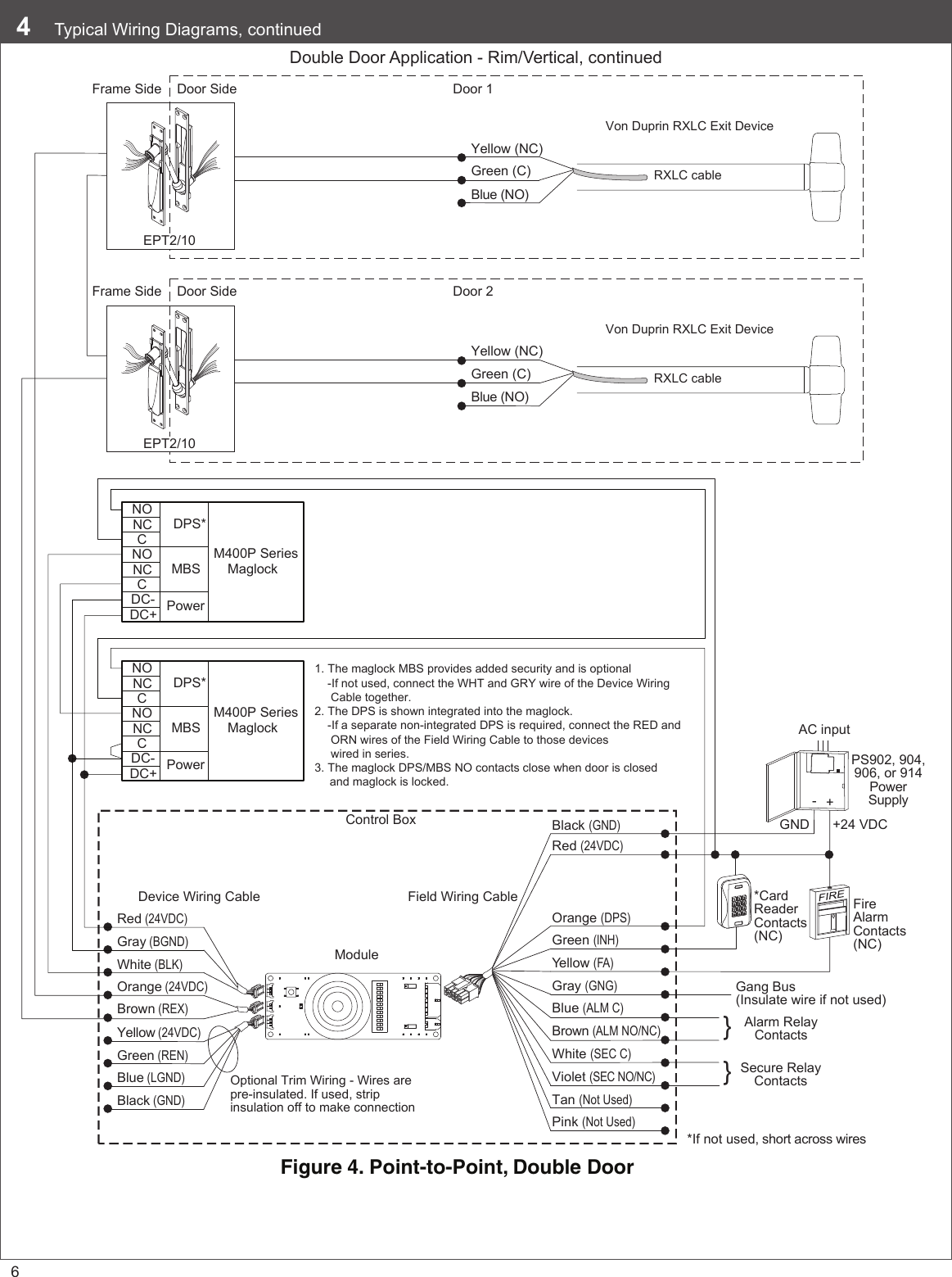 Request To Exit Maglock Wiring Diagram
