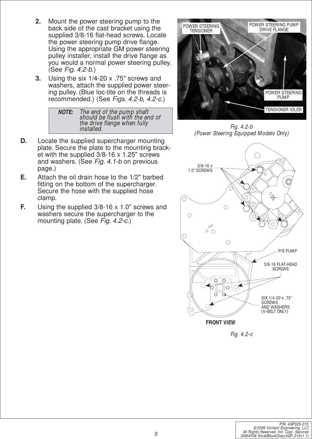 Vortech Engineering 4Gp020 01 Users Manual (4GP  015v1 1)SBC